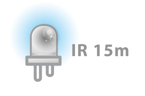IR distance of 15 meters