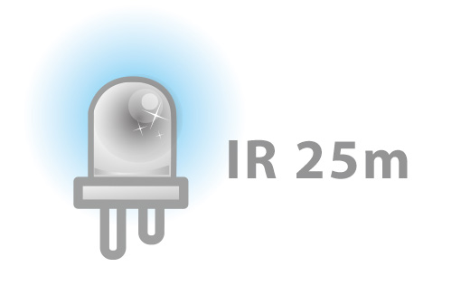 IR Distance of Up to 25m
